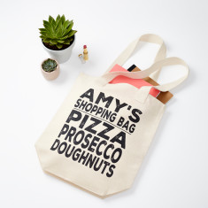 Personalised Shopping List Canvas Bag