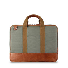 Piccadilly Waxed Canvas & Leather Briefcase