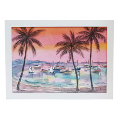 Airle beach framed art print