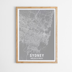 Sydney map print (various colours)