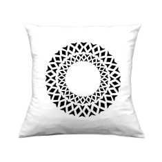 Diamond circles handmade cushion cover