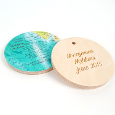 Personalised map location circle wall art