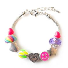 Children's bright charm bracelet