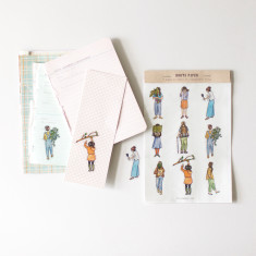Women Sticker Set - Illustrated Transparent