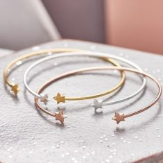 Open Cuff Shooting Star Bangle