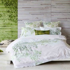 Pascale green quilt cover set