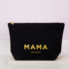 Personalised Gold Mother's Day Make Up Bag