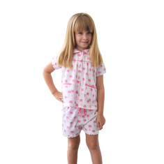 Palm Sunday pink girls' pj set