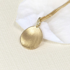 Flower Petal Pendant in 18ct Yellow Gold