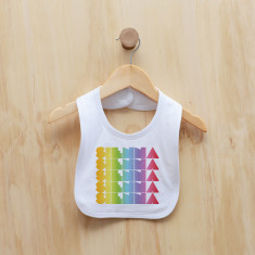 Personalised rainbow gradient girl bib