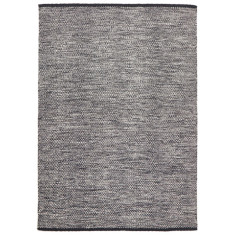 Antoin Black Cotton Textured Rug