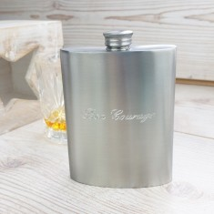 Bon Voyage Distressed Kidney Hip Flask