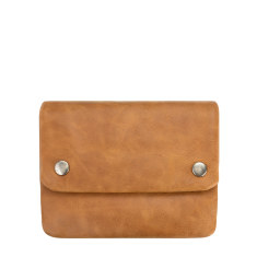 Norma leather wallet in tan