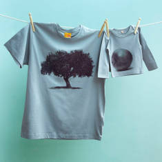 Matching Apple Tree and Applet- T-shirt twinset set for dad & child