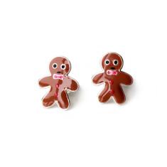A small world gingerbread men stud earrings