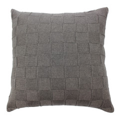 Emporium squares cotton knitted cushion (various colours)