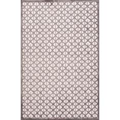 Flint grey & star white lustrous finish rug