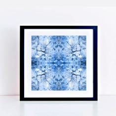 Blue toile tree limited edition fine art giclee print