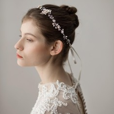 Crystal Leaf Wedding Headband