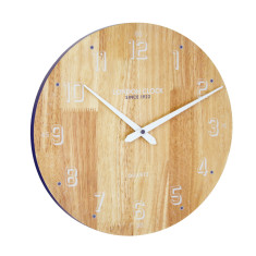 London Clock Company Drift Soild Wood Wall Clock 35cm