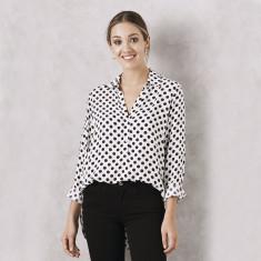 Polka Dot Shirt in White