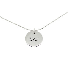 Personalised Small Sterling Silver Circle Necklace
