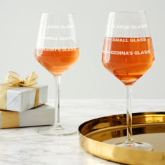 Personalised Small Measure Wine Glass