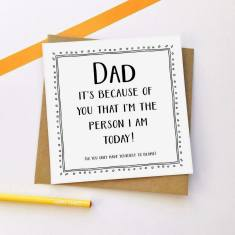 Because of you Father's Day greeting card