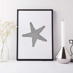 Starfish drawing print