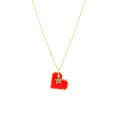 Pixelated heart pendant