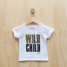 Wild child personalised animal print t-shirt