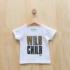 Wild child personalised animal print t-shirt