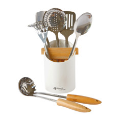 Louis Thiers Mondial 8-piece matte kitchen utensil set