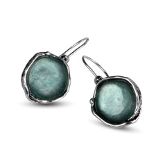 Venus Ancient Roman Glass Sterling Silver Drop Earrings