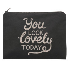 You Look Lovely Today Glitter Pouch