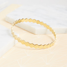 Hexagon Full Bangle