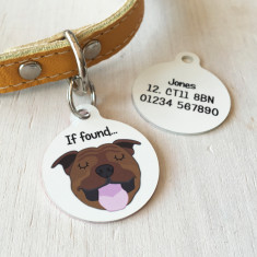 Personalised Dog ID Tag - bold