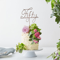 Fifty Wire Cake Topper
