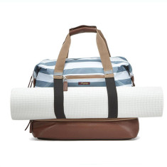 Po Campo stripes weekender & gym bag