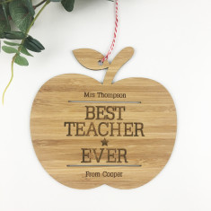 Best teacher Ever Personalised Wall Hanging