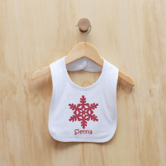 Personalised Christmas snowflake bib