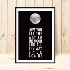 Moon and back art print (various sizes)