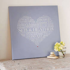 Personalised Wedding Word Art Print