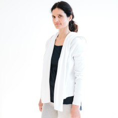 Shawl Collar Track Jacket in White