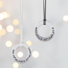 Men's Personalised Sterling Silver Flat Disc Necklace