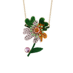 Mottled flower necklace