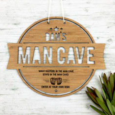 Man Cave personalised bamboo wall hanging