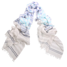 Pippa Hand Loomed Cotton Stripe Scarf (various colours)