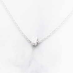 Petite cubic zirconia necklace in sterling silver