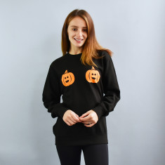 Twin Pumpkin, Skull And Ghost Unisex Sweatshirt Jumper